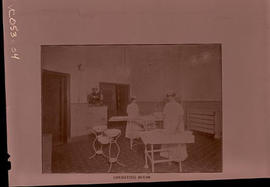 Interior view of an operating room, St. Louis Skin and Cancer Hospital.