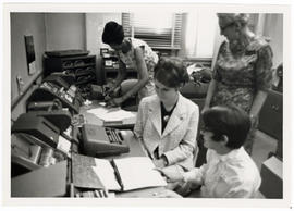 """Librarian for a day,"" Washington University School of Medicine Library."