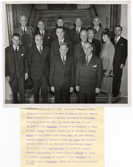 Group portrait of members attending the meeting of Executive Committee of the American National R...