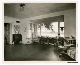 View of the sitting room in the home of Vilray P. Blair.