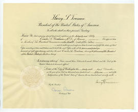 Presidential Citation, President's Commission on Health Needs of the Nation.