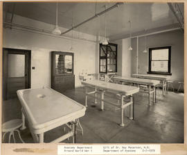 View of the Embalming Room in the Washington University School of Medicine Anatomy Department.