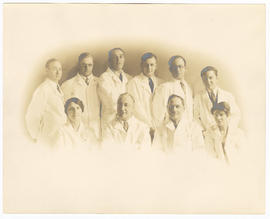 Group portrait of the Barnes Hospital chest surgery group.