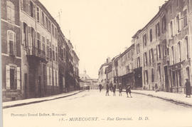 Street view, Rue Germini, Mirecourt, France.