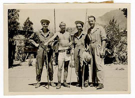 Group portrait of four men, Eritrea.