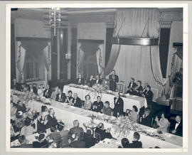 View of a banquet dinner for Dr. Carl F. Cori.