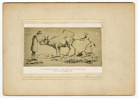 """The Cowpox Swindle"" (Der Kuhpocken Schwindel). From a German caricature, 1801."