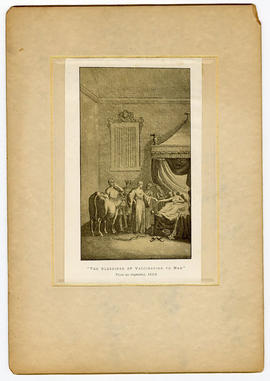"""The Blessings of Vaccination to Man."" From an engraving, 1800."