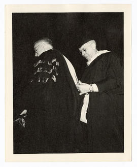 Ernest W. Goodpasture receiving an honorary medical degree on the 50th anniversary of Washington ...