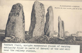 Menhirs of the old mill, Plouharnel-Carnac, Brittany.
