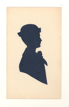 Silhouette of Karl Baumgarten, son of Gustav and Aminda Baumgarten.