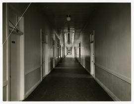 Barnes Hospital, corridor connecting ward and private patients' buildings, c.1914-1915.