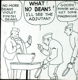 Mess hall complaints cartoon by William Stack.