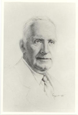 Portrait drawing of Vilray P. Blair by Gertrude Hance.