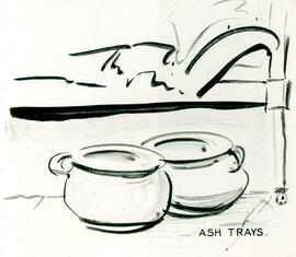Ash trays cartoon.