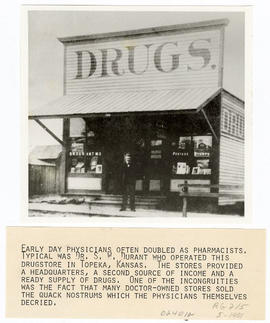 Dr. S.W. Durant posing in front of his drug store.