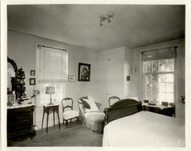 View of a bedroom in the home of Vilray P. Blair.