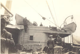 View of lifeboats on the S.S. St. Paul.