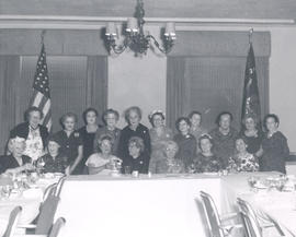 Group portrait of women at a Base Hospital 21 reunion.