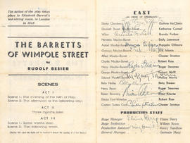 """Barretts of Wimpole Street"" program."