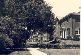 View of a residential area of Fort Leavenworth, Kansas, site of the Civilian Orientation class.
