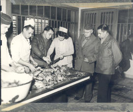 Men and women at work in the main diet kitchen, 21st General Hospital, Ravenel Hospital Hospital,...