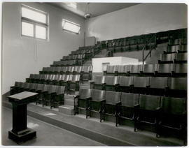 Interior view of a lecture hall, St. Louis Children's Hospital.
