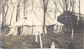 Exterior view of a laboratory tent.