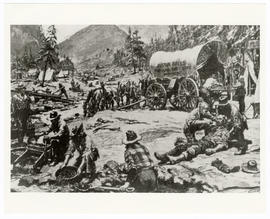 Artist's rendering of Gold Rush Physicians.