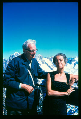 Viktor Humberger and Rita Levi-Montalcini on Mont Blanc.