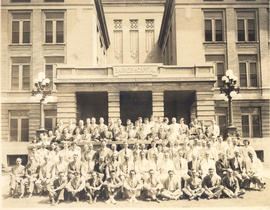 Barnes Hospital annual staff photograph.