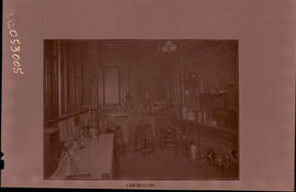 Interior view of a laboratory, St. Louis Skin and Cancer Hospital.