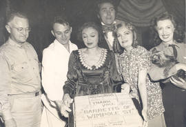 """Barretts of Wimpole Street"" cast, including Katherine Cornell and Brian Aherne, with C..."