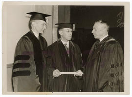 Joseph Erlanger receiving an honorary degree from the University of Pennsylvania.