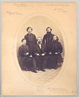 Civil War group portrait taken at U.S. Naval Station U.S. Naval Hospital at Memphis, Tennessee, 1...