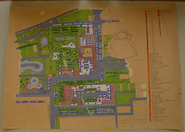 21st General Hospital site map with key, Naples, Italy.