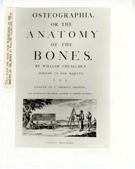 "Frontispiece of ""Osteography or the Anatomy of the Bones,"" by William Cheselden."