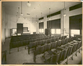 View of the Pathology lecture room  in the Washington University School of Medicine Anatomy Depar...