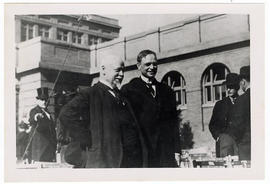 William H. Welch and George E. Vincent at the garden party reception after the dedication ceremon...