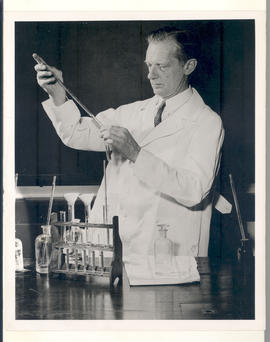 Carl F. Cori at work in the laboratory.