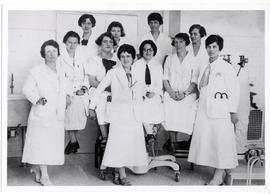 Group portrait of female medical students.