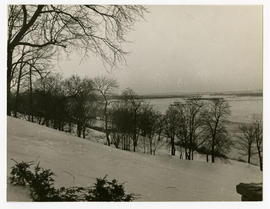 View of Missouri River seen from the backyard at the home of Vilray P. Blair.