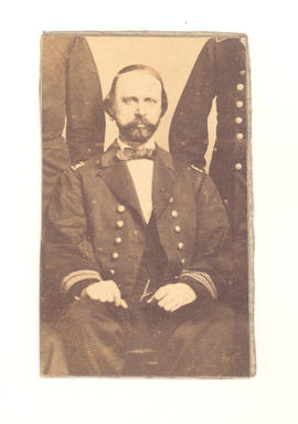 Figure of Dr. Greer cut out of Civil War group portrait.