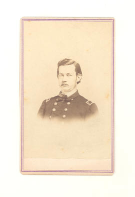 Portrait of Dr. Gustav Baumgarten in his Civil War uniform.