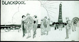 """Blackpool"" cartoon by William Stack."