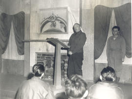 Major General Arthur R. Wilson dedicating the Hawaiian Room at the 21st General Hospital, Ravenel...