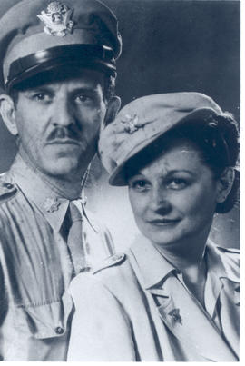 Studio portrait of Major Wendell S. Dove, MC, and Lieutenant Alice Walker, ANC, Algeria.