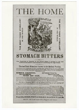 Newspaper advertisement for Stomach Bitters.