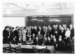 Group portrait of Helen B. Burch with the Czechoslovak Academy of Sciences Laboratory of developm...