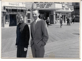 Unidentified man and woman in Atlantic City, New Jersey